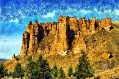 Digital Art - Clarno Palisades by Kaylee Mason