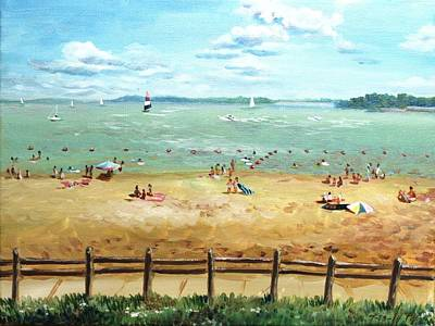 Carlyle Lake Beach In Il Art Print