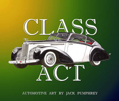 Painting - Class Act 1941 Packard Custom Coupe by Jack Pumphrey