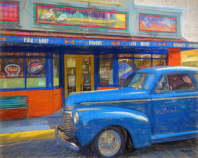 Photograph - Classic Car 1941 Chevy Master Deluxe Sedan - Blue On Blue by Rebecca Korpita