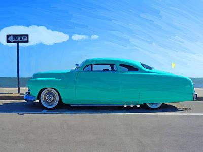 Cruising The Coast Wall Art - Photograph - Classic 1949 Mercury Leadsled Car by Rebecca Korpita