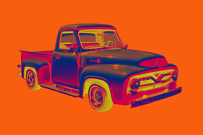 Classic 1955 F100 Ford Pickup Pop Art Art Print by Keith Webber Jr