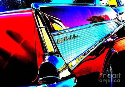 Photograph - Classic 57 Chevy Art by Bobbee Rickard