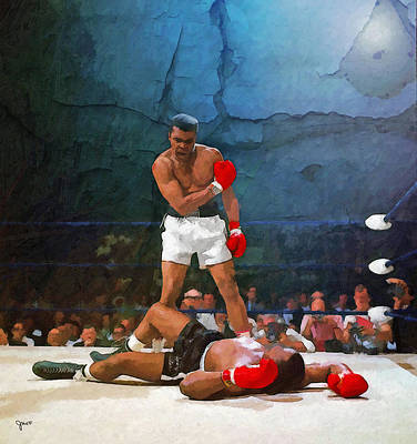 Knockout Painting - Classic Ali by John Farr