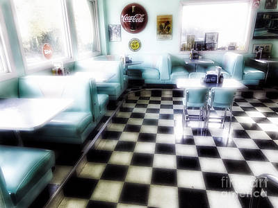 Classic American Diner Interior Original by George Oze