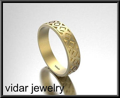 14k Jewelry - Classic And Stylish 14 Yellow Gold Men's Wedding Ring by Roi Avidar