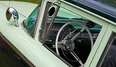 Art Print featuring the photograph Classic Automobile Interior by Mick Flynn