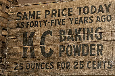 Photograph - Classic Baking Powder by Andy Crawford