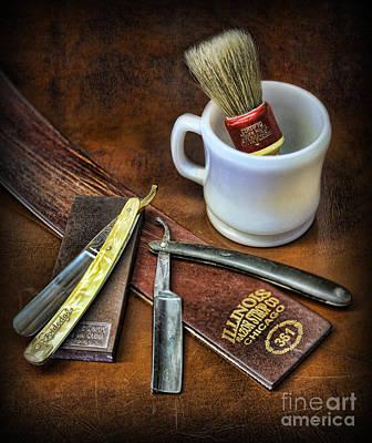 Classic Barber Shop Shave - Barber Shop Art Print by Lee Dos Santos