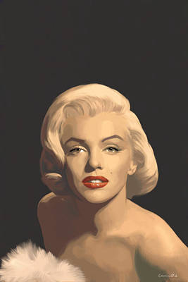 Actors Painting - Classic Beauty In Graphic Gray by Chris Consani