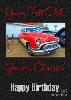 Digital Art - Classic Birthday by JH Designs
