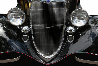 Photograph - Classic Black Ford by John Orsbun
