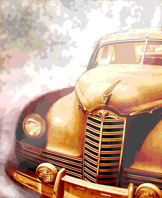 Transportation Mixed Media - Classic Car 1940s Packard  by Ann Powell