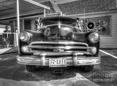 Classic Car Along Route 66 Art Print by Twenty Two North Photography