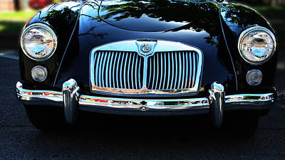 Car Photograph - Classic Car Art - Vintage Mg Grill View by Lesa Fine