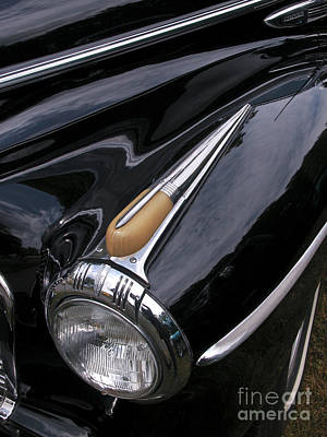 Photograph - Classic Car Black by Tom Brickhouse