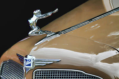 Classic Car - Buick Victoria Hood Ornament Art Print by Peggy Collins