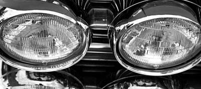 Art Print featuring the photograph Classic Car Grill And Lights by Mick Flynn