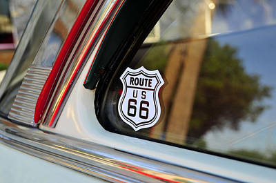 Classic Car On Route 66 Art Print by David Lee Thompson