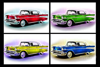 Photograph - Classic Car Pop Art by Jo Collins