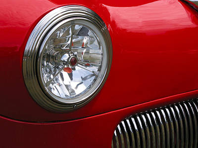 Photograph - Classic Car Red by Tom Brickhouse