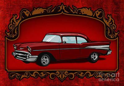 Classic Cars 01 Art Print by Bedros Awak