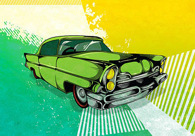 Classic Cars 04 Art Print by Bedros Awak