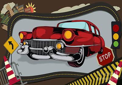 Classic Cars 05 Art Print by Bedros Awak