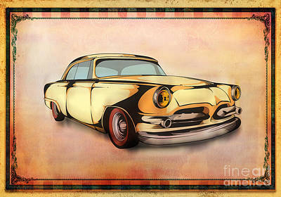Design Mixed Media - Classic Cars 08 by Bedros Awak