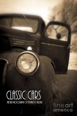Transportation Royalty-Free and Rights-Managed Images - Classic Cars Back Cover by Edward Fielding