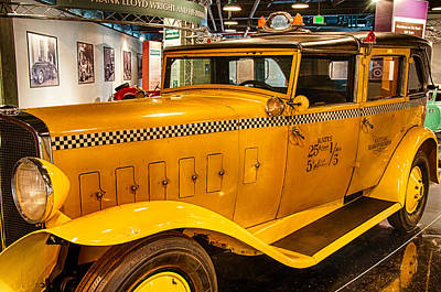 Photograph - Classic Checkered Taxi by Gene Sherrill