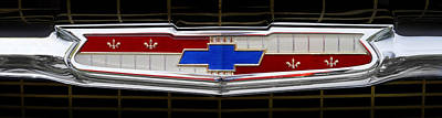Vintage Chevy Photograph - Classic Chevrolet Emblem by Mike McGlothlen