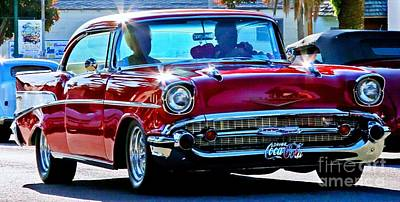 Red Chev Photograph - Classic Chevrolet by Tap On Photo