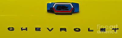 Photograph - Classic Chevy Badging by Mark Spearman