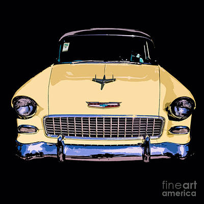 Marlboro Photograph - Classic Chevy Pop Art by Edward Fielding
