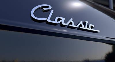 Transportation Digital Art - Classic Chrome Car Emblem by Allan Swart