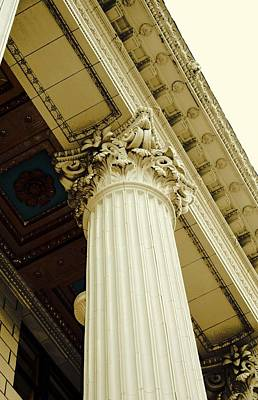 Greek Columns Digital Art - Classic Column by Cathie Tyler