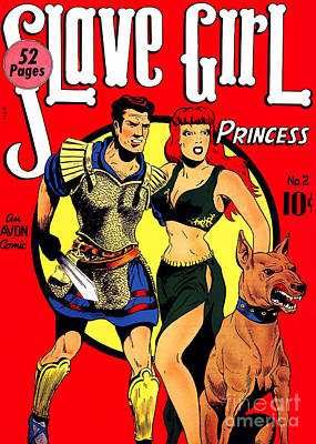 Classic Comic Book Cover - Slave Girl Princess - 1110 Art Print by Wingsdomain Art and Photography