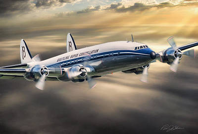 Airliners Digital Art - Classic Constellation by Peter Chilelli