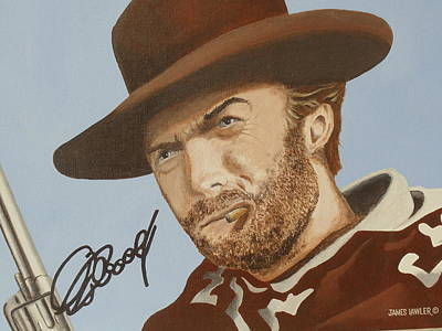 Painting - Classic Cool Clint by James Lawler