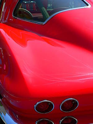 Photograph - Classic Corvette Art Lines by Jeff Lowe