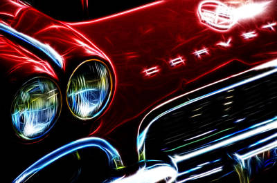 Photograph - Classic Corvette Fractal by Ricky Barnard