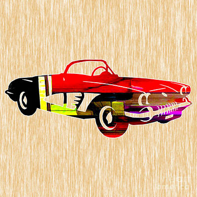 Classic Car Mixed Media - Classic Corvette by Marvin Blaine