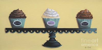 Catherine White Painting - Classic Cupcakes by Catherine Holman