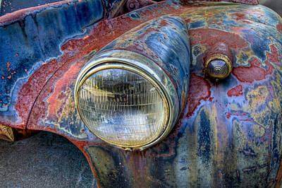 Automobile Hood Photograph - Classic by Debra and Dave Vanderlaan