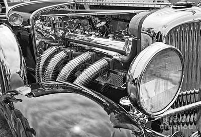 Concourse Photograph - Classic Engine - Classic Cars At The Concours D Elegance. by Jamie Pham