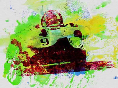 Concept Photograph - Classic Ferrari On Race Track by Naxart Studio