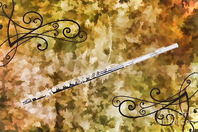 Painting - Classic Flute Music Instrument Painting Photograph 3307.02 by M K  Miller