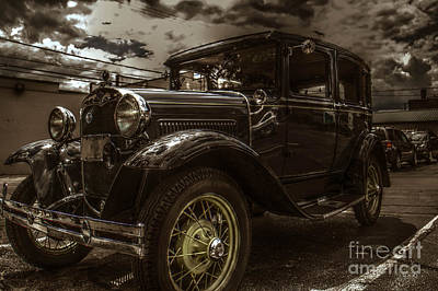 Classic Car Photograph - Classic Ford Aged Color by Keith Russell