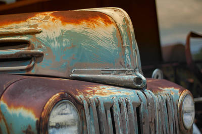 Antique Ford Truck Grill Photograph - Classic Ford Truck by Juan Torrero
